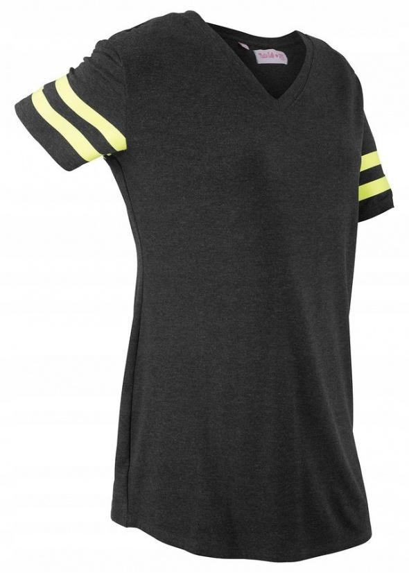 Sportowy shirt odblaskowe żółte paski...