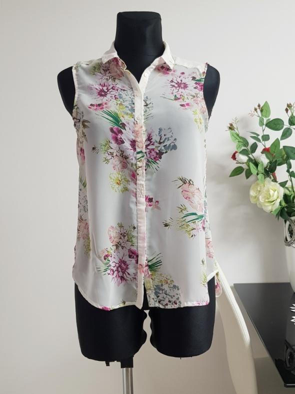 kolorowa koszula w kwiaty H&M...