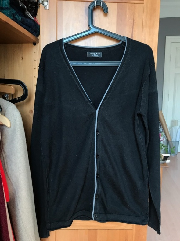 Sweter Kardigan Zara man czarny L