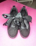 czarne buty kokardki ala puma by fenty...