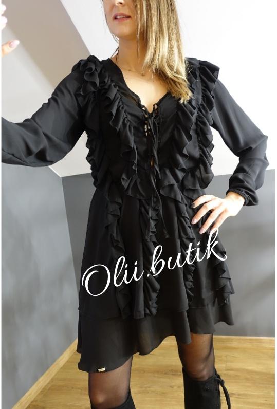 sukienka falbanki czarna 36 38