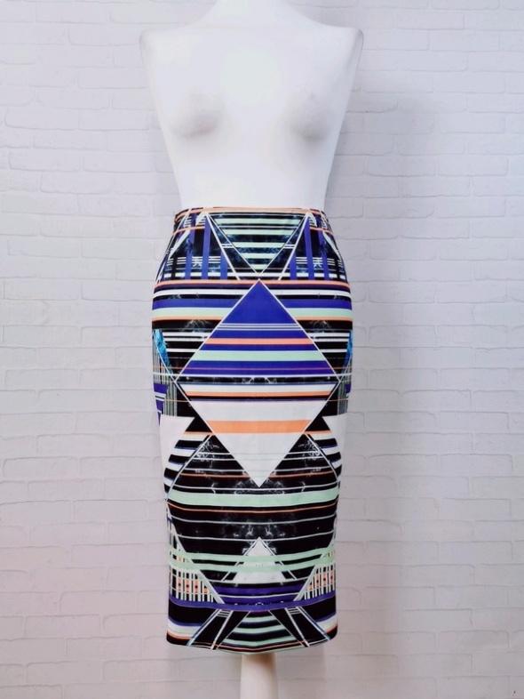 Spódnice 8 36 S Miss Selfridge Wielobarwna wzorzysta spódnica