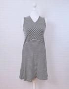 10 38 M Mango Czarna biała sukienka w paski...