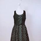 10 38 M H&M Czarna sukienka kamizelka białe gwiazdki