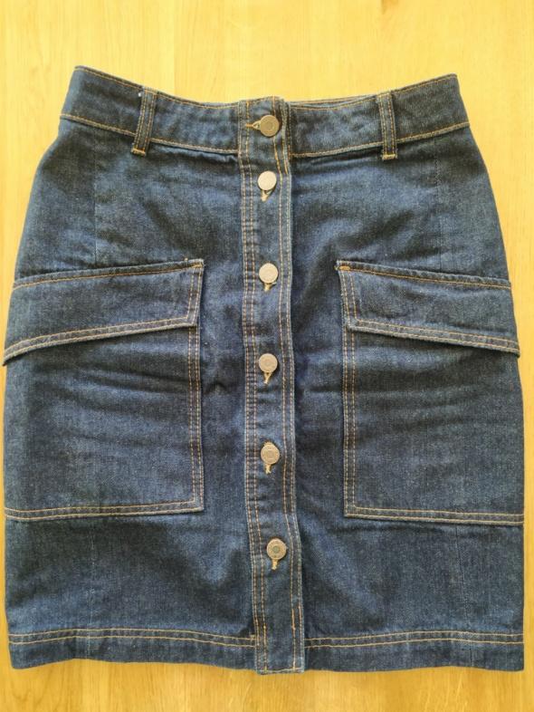 Spódnice Spódnica jeansowa na guziki