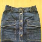 Spódnica jeansowa na guziki