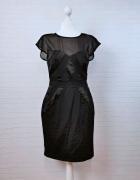 12 40 L Warehouse Czarna dopasowana sukienka...
