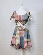 6 34 XS 8 36 S H&M Wielobarwna wzorzysta sukienka...