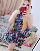 16 44 2XL H&M Plus Size czarna wielobarwna wzorzysta sukienka w...