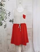 16 44 2XL XXL Atmosphere Plus Size Szara czerwona sukienka...