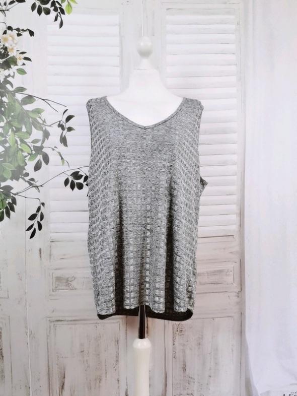 20 48 4XL Dunnes Stores Plus Size Popielata luźna bluzeczka...