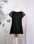 10 38 M Orsay Czarna bluzeczka srebrne zdobione ramiona...