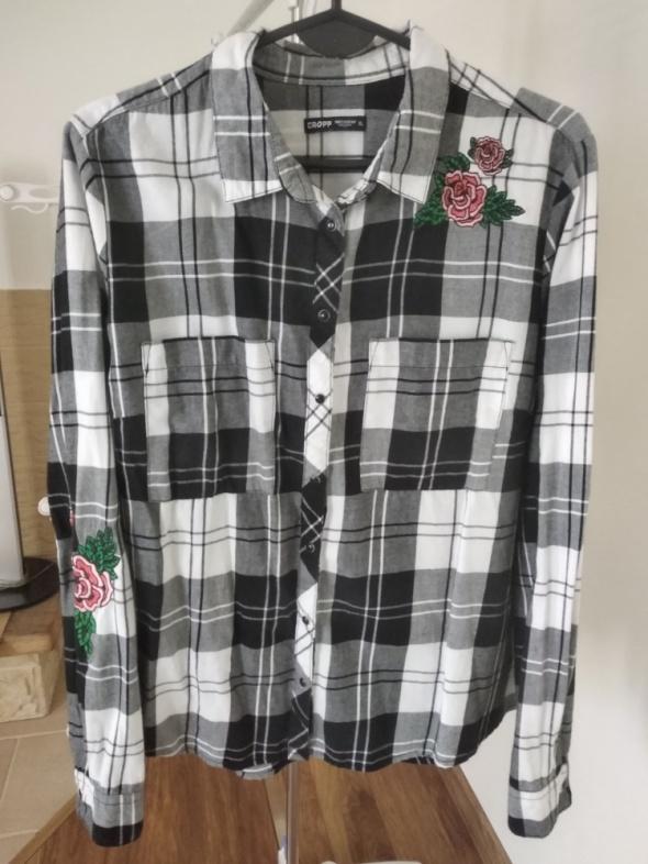 Koszula z różami w kratę Cropp roz XL 42