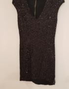 Cekinowa sukienka asymetryczna XS...