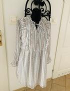 Vero Moda sukienka falbanki wiązanie 40 L...