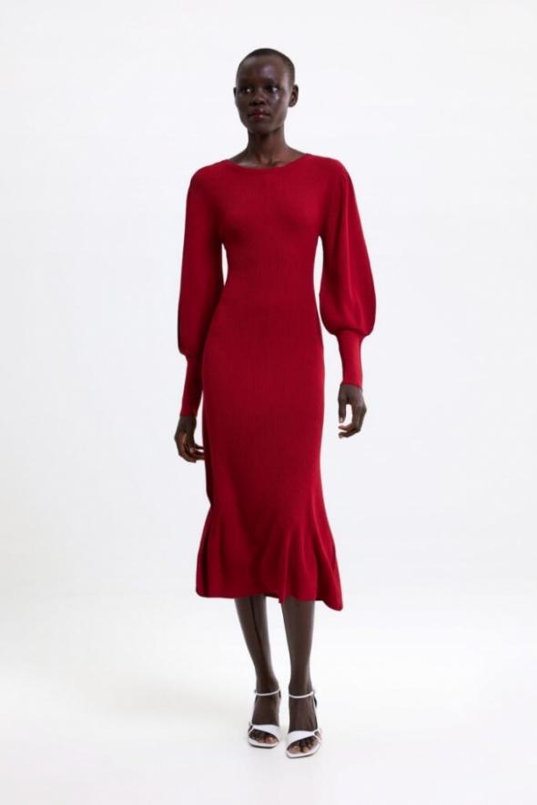 Czerwona długa sukienka ZARA...