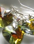 Serduszka Złociste szlifowane kryształki