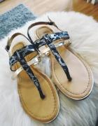 Damskie sandały japonki