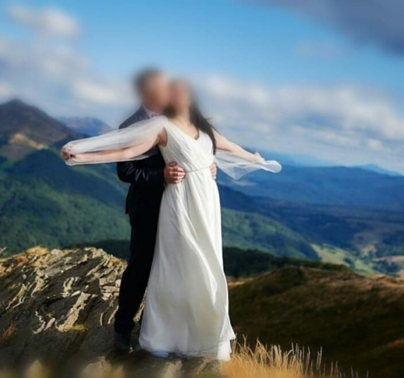 Suknia ślubna grecka elegancka prosta rozmiar 38