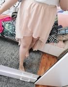 16 44 2XL XXL New Look Pudrowy róż brzoskwinka spódniczka z dłu...