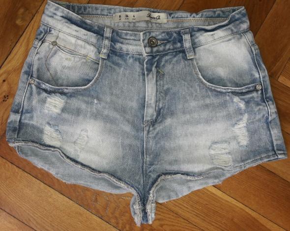 Spodenki Spodenki jeansowe przetarcia Denim S Wysoki stan