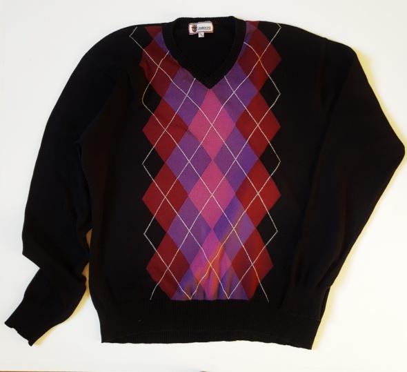 GIARDONI Włoski Bawełniany Sweter Męski Rozm 56 58