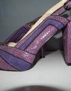 eleganckie sandałki fioletowe 39...