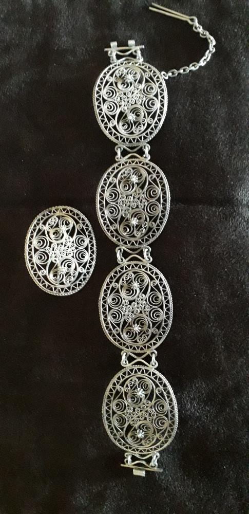 Stary srebrny komplet Imago Artis