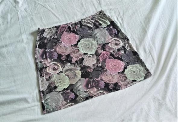 New Look 38 M 36 S mini bandażowa floral kwiaty pastelowa...