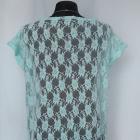 bluzka koronka miętowa
