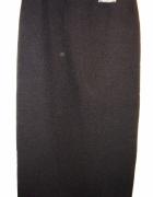 Elegancka długa czarna wąska spódnica...