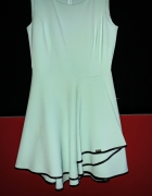Sukienka asymetryczna miętowa