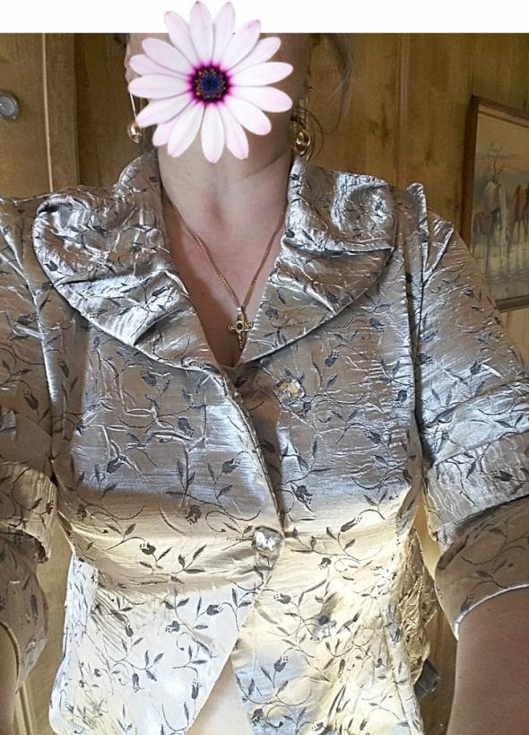 Bluzka złoto srebrna 46 błyszcząca