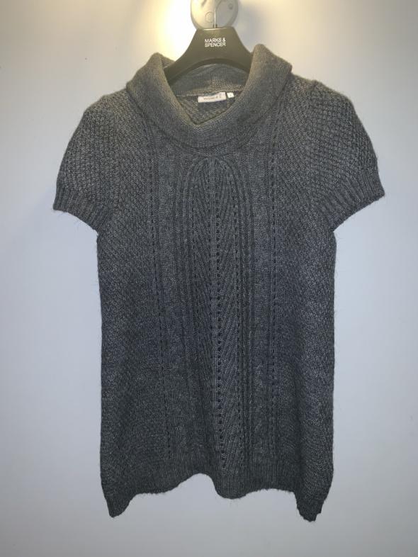 Swetry sweter tunika z krótkim rękawem Yessica C&A L