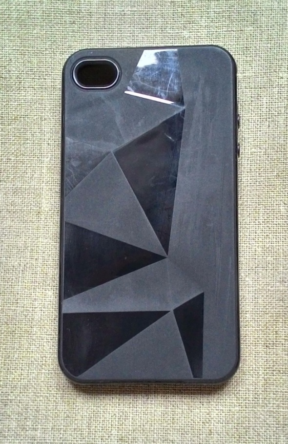 Obudowy i etui Nowe etui case iPhone 4 4S czarne silikonowe geome