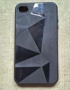 Nowe etui case iPhone 4 4S czarne silikonowe geome...