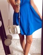 Sukienka Damska niebieska M rozkloszowana...