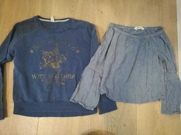 Niebieska Bluza i bluzeczka 152 zara H&M