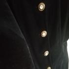 Elegancka sukienka z guzikami L grubszy materiał