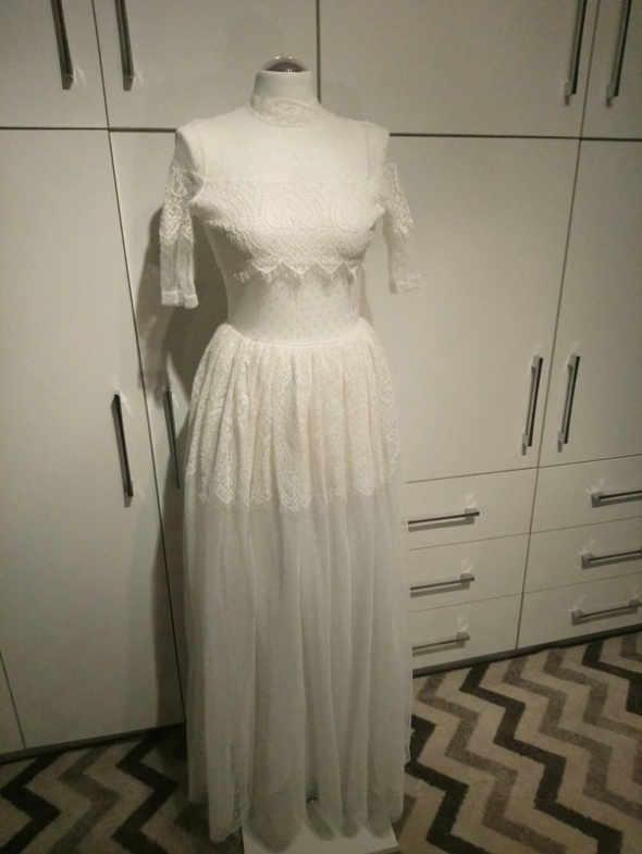 Sukienka ślubna koronka boho...