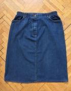 Jeansowa spódniczka ołowkowa XL...