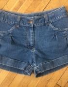 Jeansowe krotkie spodenki rozm L stan idealny...
