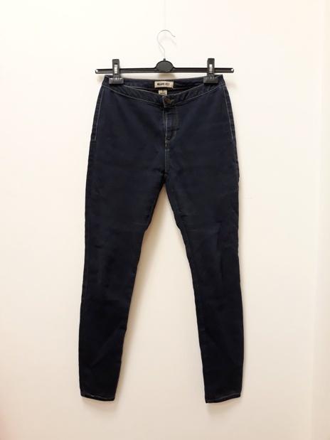 TkMaxx jeansy rurki z wysokim stanem klasyczne granatowe 38 40