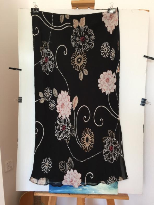 Spódnice Czarna kwiecista spódnica Isabelle XXL