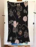 Czarna kwiecista spódnica Isabelle XXL...