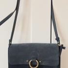 Niebieska torebka z naturalnego zamszu Parfois
