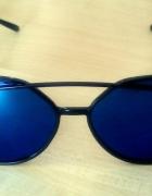Okulary damskie lustrzanki kocie oczy niebieskie...