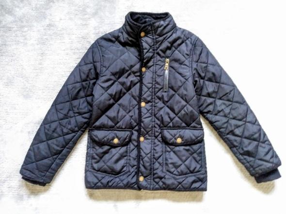 Czarna kurtka pikowana wiosna 7 8 lat Rebel