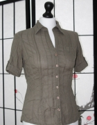 koszula oliwkowa militarna khaki krótki batyst...