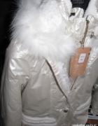 NOWA cudna ocieplana biała kurtka...
